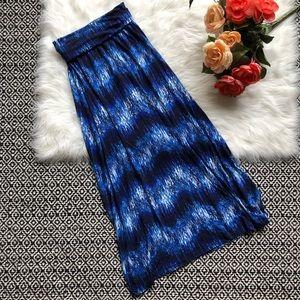 Cynthia Rowley Blue Bold Maxi Skirt Stripes
